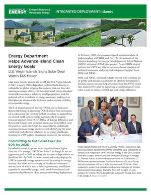 Primary view of object titled 'Energy Department Helps Advance Island Clean Energy Goals (Fact Sheet)'.