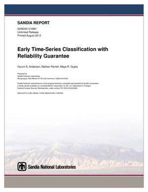Primary view of object titled 'Early time-series classification with reliability guarantee.'.