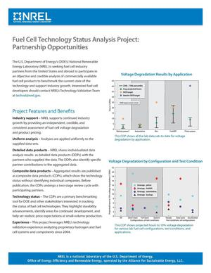 Primary view of object titled 'Fuel Cell Technology Status Analysis Project: Partnership Opportunities (Fact Sheet)'.