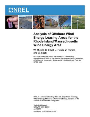 Primary view of object titled 'Analysis of Offshore Wind Energy Leasing Areas for the Rhode Island/Massachusetts Wind Energy Area'.