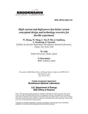 Primary view of object titled 'High current and high power fast kicker system conceptual design and technology overview for DeeMe experiment'.
