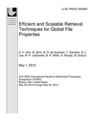 Primary view of object titled 'Efficient and Scalable Retrieval Techniques for Global File Properties'.
