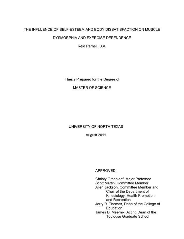 Doctoral thesis on self esteem essay armament expenditure