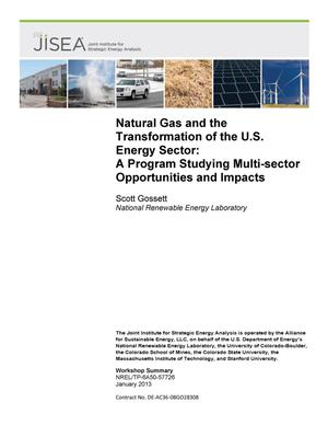 Primary view of object titled 'Natural Gas and the Transformation of the U.S. Energy Sector: A Program Studying Multi-sector Opportunities and Impacts'.
