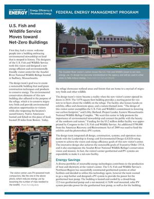 Primary view of object titled 'U.S. Fish and Wildlife Service Moves toward Net-Zero Buildings (Fact Sheet)'.