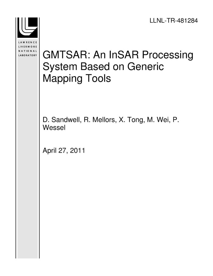GMTSAR: An InSAR Processing System Based on Generic Mapping