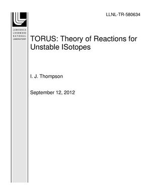 Primary view of object titled 'TORUS: Theory of Reactions for Unstable ISotopes'.