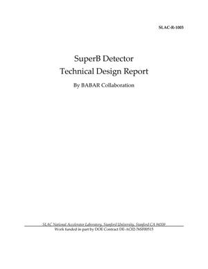 Primary view of object titled 'SuperB Detector Technical Design Report'.