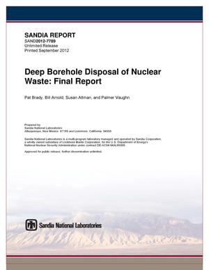 Primary view of object titled 'Deep borehole disposal of nuclear waste summary.'.