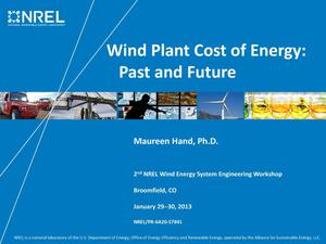 Primary view of object titled 'Wind Plant Cost of Energy: Past and Future (Presentation)'.