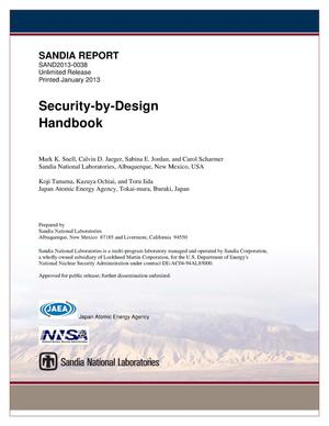 Primary view of object titled 'Security-by-design handbook.'.