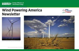 Primary view of object titled 'Wind Powering America Newsletter (Postcard)'.