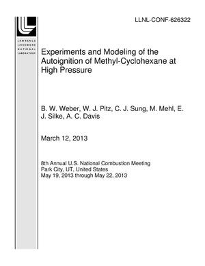 Primary view of object titled 'Experiments and Modeling of the Autoignition of Methyl-Cyclohexane at High Pressure'.