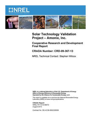 Primary view of object titled 'Solar Technology Validation Project - Amonix, Inc.: Cooperative Research and Development Final Report, CRADA Number CRD-09-367-13'.