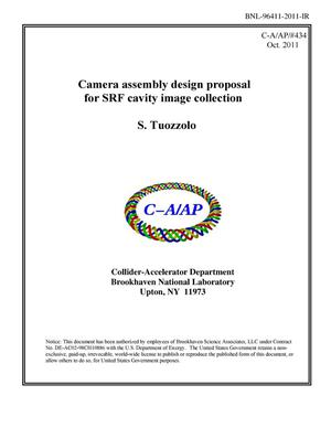 Primary view of object titled 'Camera assembly design proposal for SRF cavity image collection'.