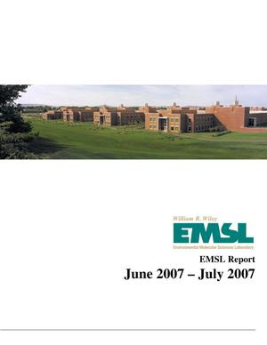 Primary view of object titled 'EMSL Bimonthly Report: June 2007 through July 2007'.