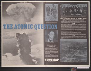 Primary view of object titled 'Newsmap for the Armed Forces : The atomic question'.
