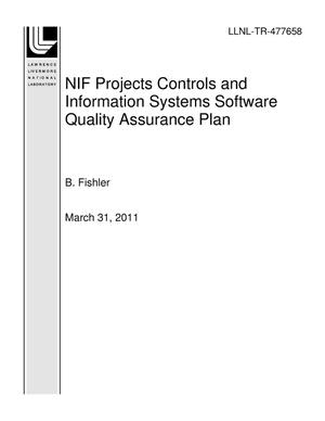 Primary view of object titled 'NIF Projects Controls and Information Systems Software Quality Assurance Plan'.