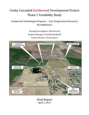 Primary view of object titled 'Phase 1 Feasibility Study, Canby Cascaded Geothermal Project, April 2, 2013'.
