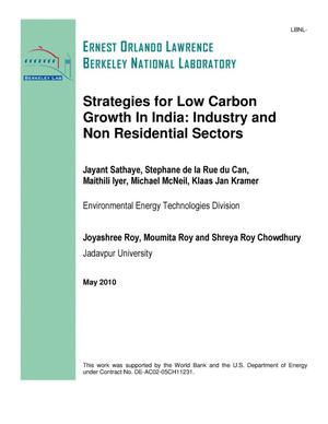 Primary view of object titled 'Strategies for Low Carbon Growth In India: Industry and Non Residential Sectors'.