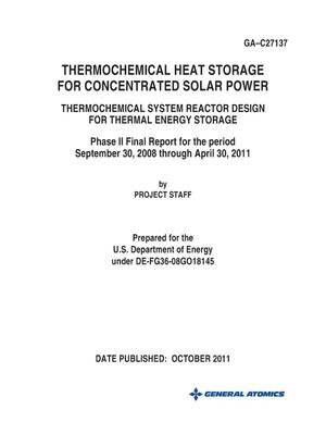 Primary view of object titled 'THERMOCHEMICAL HEAT STORAGE FOR CONCENTRATED SOLAR POWER'.