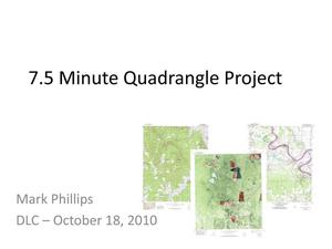 Primary view of object titled '7.5 Minute Quadrangle Project'.