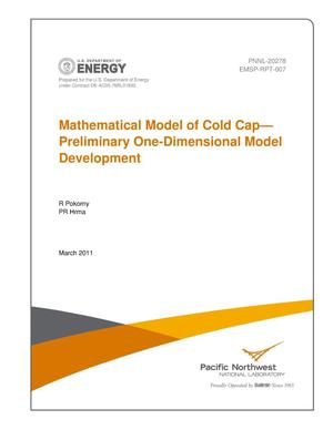 Primary view of object titled 'Mathematical Model of Cold Cap—Preliminary One-Dimensional Model Development'.