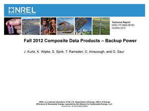 Primary view of object titled 'Fall 2012 Composite Data Products - Backup Power'.
