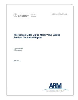 Primary view of object titled 'Micropulse Lidar Cloud Mask Value-Added Product Technical Report'.