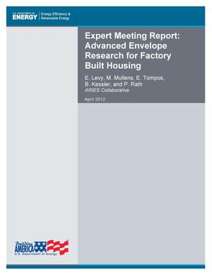 Primary view of object titled 'Expert Meeting Report: Advanced Envelope Research for Factory Built Housing'.