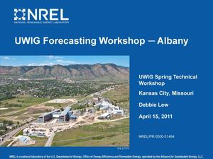 Primary view of object titled 'UWIG Forecasting Workshop -- Albany (Presentation)'.