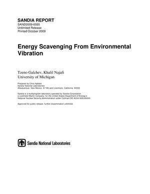 Primary view of object titled 'Energy scavenging from environmental vibration.'.
