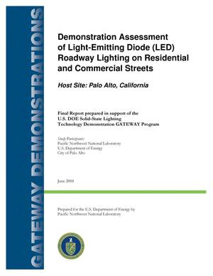 Primary view of object titled 'Demonstration Assessment of Light-Emitting Diode (LED) Roadway Lighting on Residential and Commercial Streets in Palo Alto, CA'.