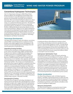 Primary view of object titled 'Conventional Hydropower Technologies (Fact Sheet)'.