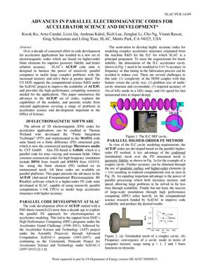Primary view of object titled 'Advances in Parallel Electromagnetic Codes for Accelerator Science and Development'.