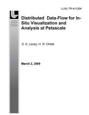 Primary view of object titled 'Distributed Data-Flow for In-Situ Visualization and Analysis at Petascale'.