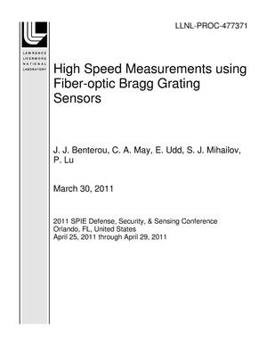 Primary view of object titled 'High Speed Measurements using Fiber-optic Bragg Grating Sensors'.