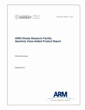 Primary view of object titled 'ARM Climate Research Facility Quarterly Value-Added Product Report Fourth Quarter: July 01–September 30, 2011'.