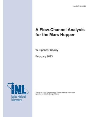 Primary view of object titled 'A Flow-Channel Analysis for the Mars Hopper'.