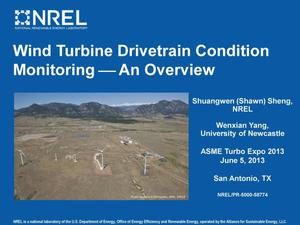 Primary view of object titled 'Wind Turbine Drivetrain Condition Monitoring - An Overview (Presentation)'.