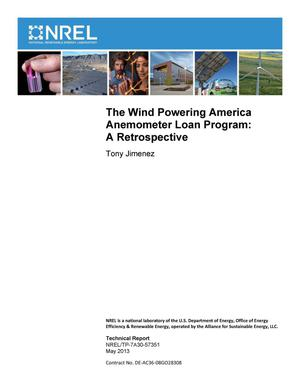 Primary view of object titled 'Wind Powering America Anemometer Loan Program: A Retrospective'.