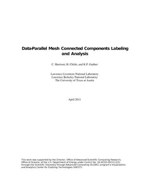 Primary view of object titled 'Data-Parallel Mesh Connected Components Labeling and Analysis'.