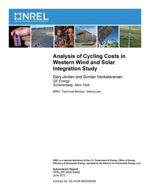 Primary view of object titled 'Analysis of Cycling Costs in Western Wind and Solar Integration Study'.