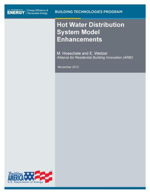 Primary view of object titled 'Hot Water Distribution System Model Enhancements'.