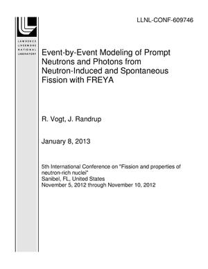 Primary view of object titled 'Event-by-Event Modeling of Prompt Neutrons and Photons from Neutron-Induced and Spontaneous Fission with FREYA'.