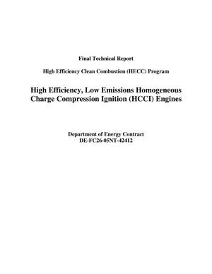 Primary view of object titled 'High Efficiency, Low Emissions Homogeneous Charge Compression Ignition (HCCI) Engines'.
