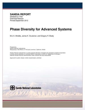 Primary view of object titled 'Phase diversity for advanced systems.'.
