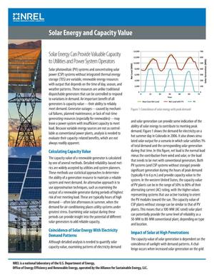 Primary view of object titled 'Solar Energy and Capacity Value (Fact Sheet)'.