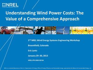 Primary view of object titled 'Understanding Wind Power Costs: The Value of a Comprehensive Approach (Presentation)'.