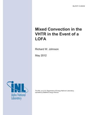 Primary view of object titled 'Mixed Convection in the VHTR in the Event of a LOFA'.